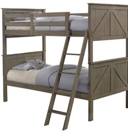 United Ashland Twin over Twin Traditional Bunkbed