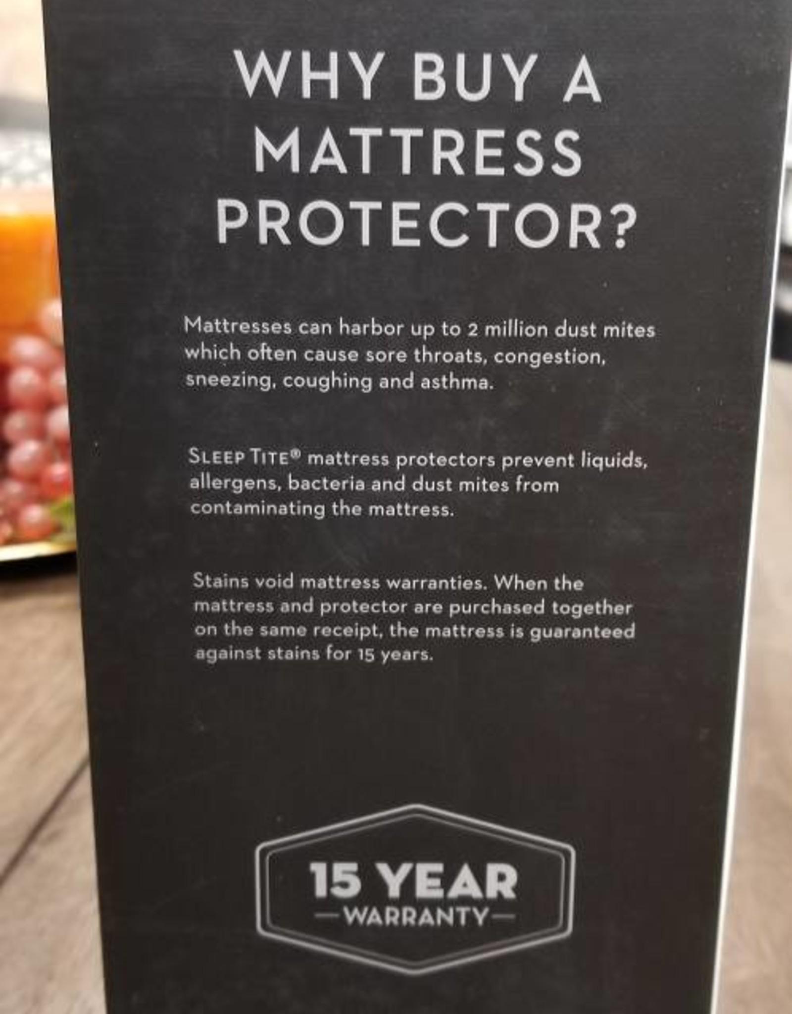 Malouf Sleep Tite Pr!me Smooth Protector - King Size Mattress Pad