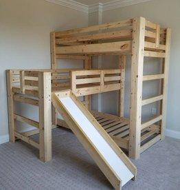 Bargain Bunks Triple Play Triple Bunk Bed W/ Slide