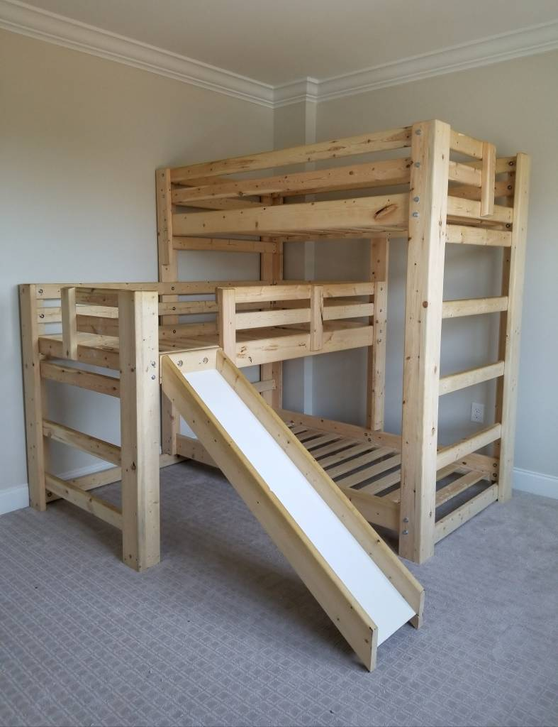 Hat Trick Triple Bunk W 2 Plank Beds Bargain Box And Bunks