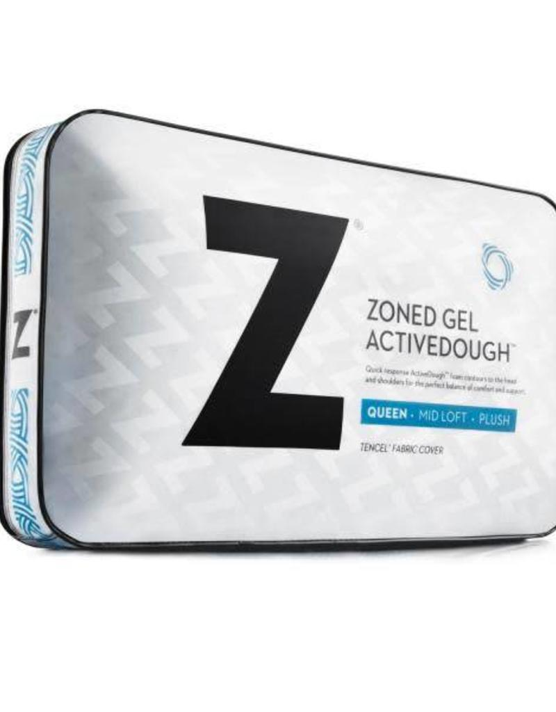 Z Zoned Activedough Gel Pillow Mid Loft Bargain Box