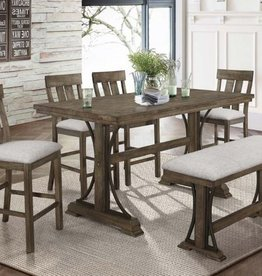 Crownmark Quincy Table w/ 4 Chairs & Bench