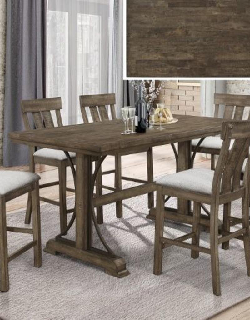 Crownmark Quincy Dining Table Set w/ 6 Chairs