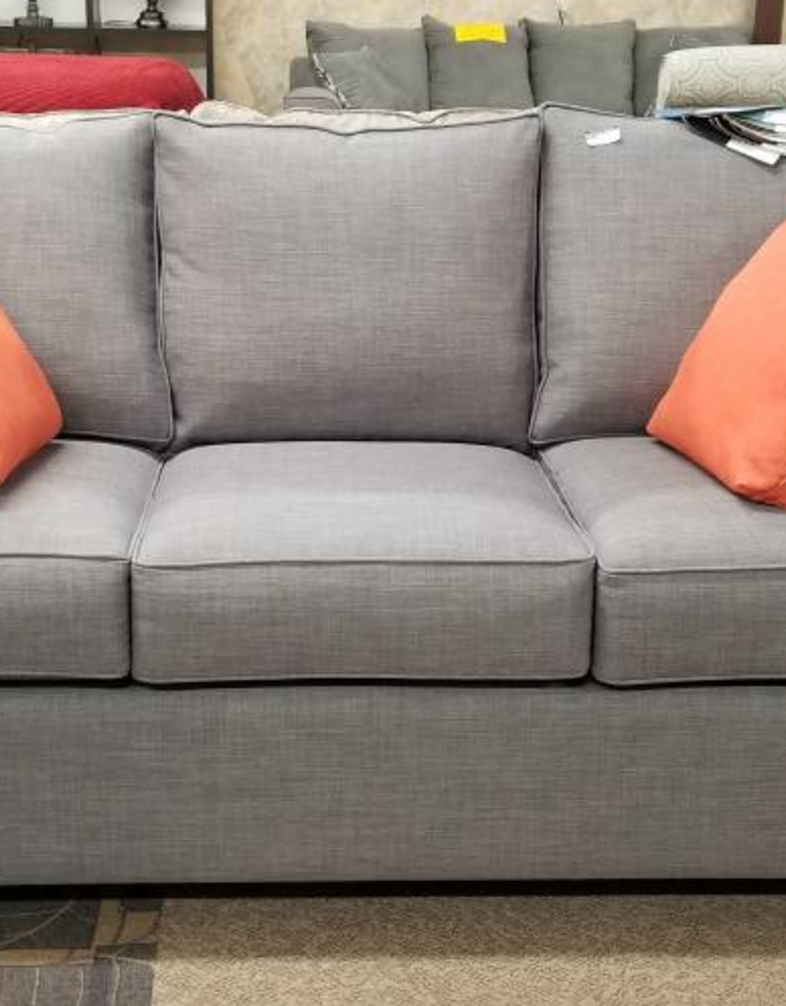 "Port Orange 6"" Track Arm - Linetta Ash Sofa (Savannah Ocean)"