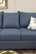 "Port Orange Flare-Arm Raconteur Navy 81"" Sofa"