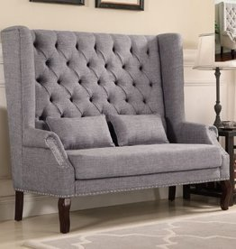 Crownmark Kaylee Loveseat - Gray