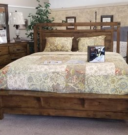 Crownmark Curtis Panel Bed - King Size