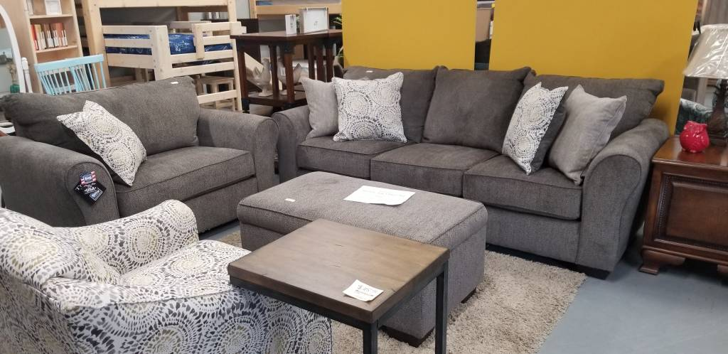 Harlow Ash 3 Piece Set Sofa Chair 1 2