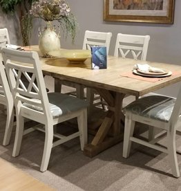 Whitewood Canyon Dining Table w/ 6 Canyon Sunbrella Upholstered Chairs