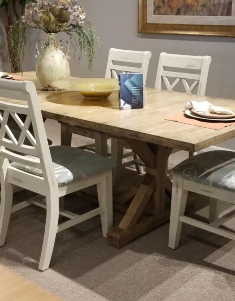 Whitewood Canyon Dining Table W 6 Canyon Sunbrella Upholstered