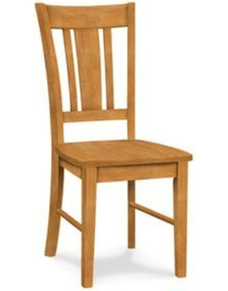Whitewood San Remo Slatback Chair Unfinished - Assembled