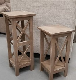 "Whitewood 30"" X-Sided Plant Stand - Gray"