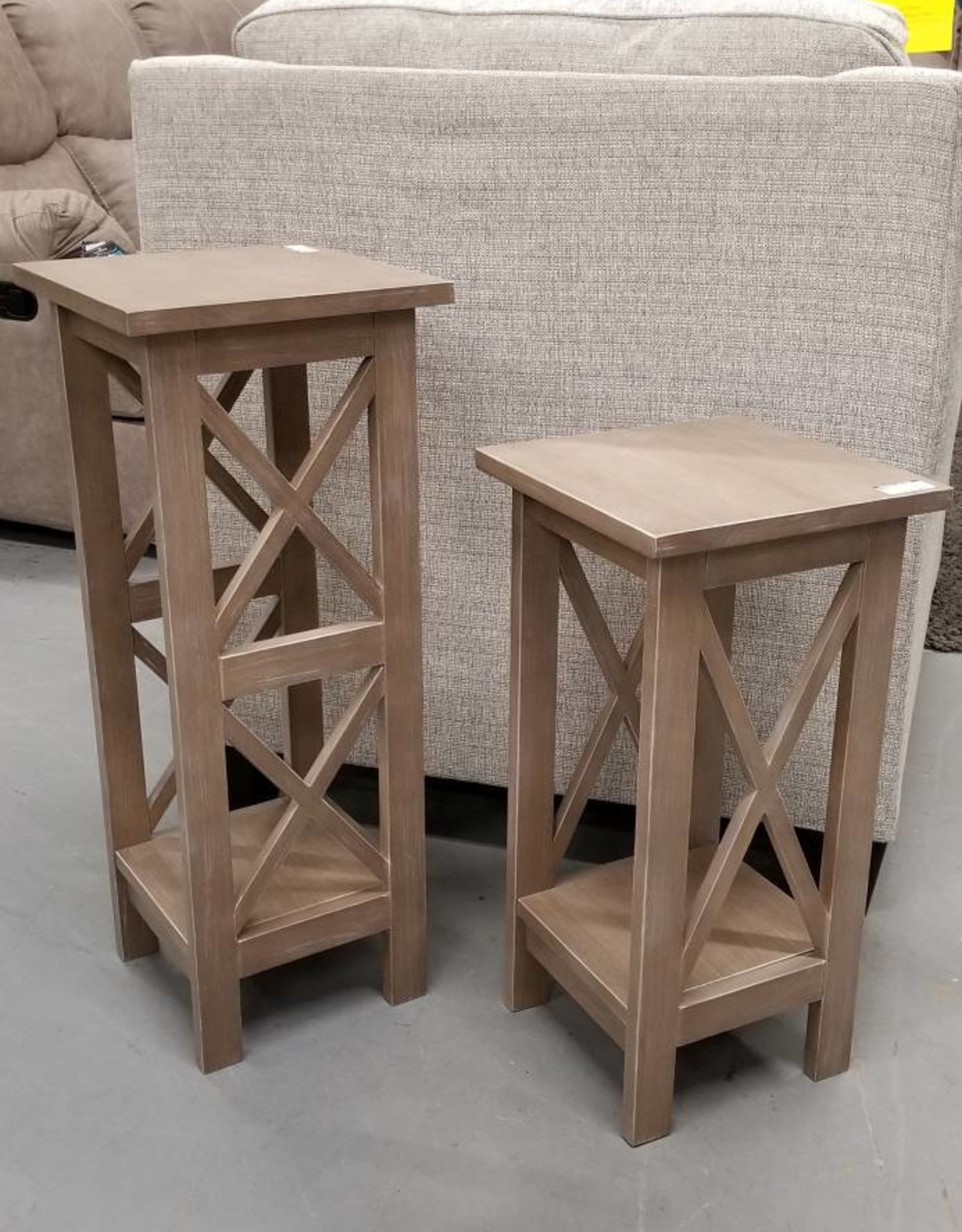"""Whitewood 24"""" X-Sided Plant Stand - Gray"""