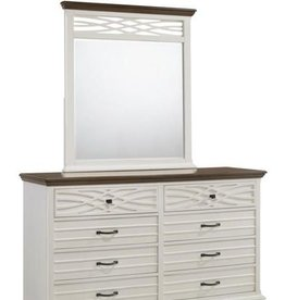 United BelleBrooke Dresser w/mirror-White