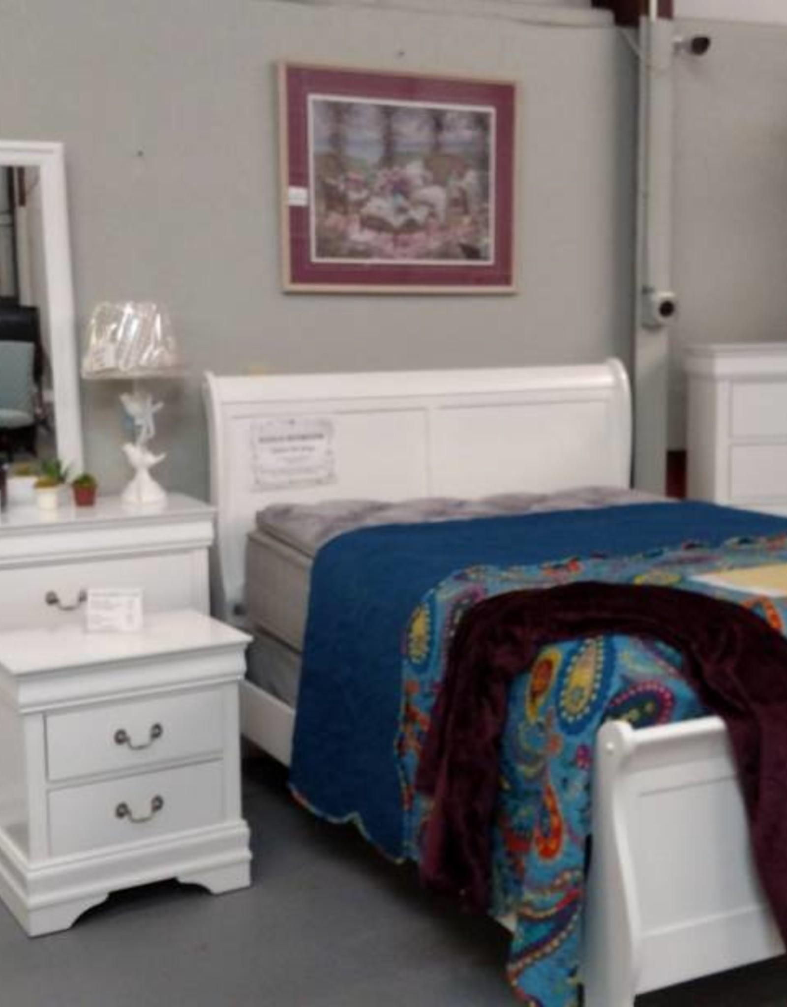 Crownmark Sleigh Bedroom - 5 Colors to Choose From