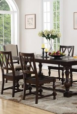 Bernards Nottingham Dining Set w/ Table, 4 wooden chairs & 2 Upholstered chairs