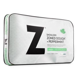 Malouf Z Shoulder Cutout Zoned Dough Pillow - Peppermint