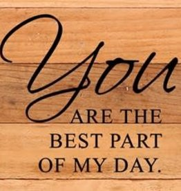 Second Nature You are the best part of my day - wood sign