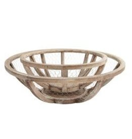 MudPie Nestled Chicken Wire Bowls