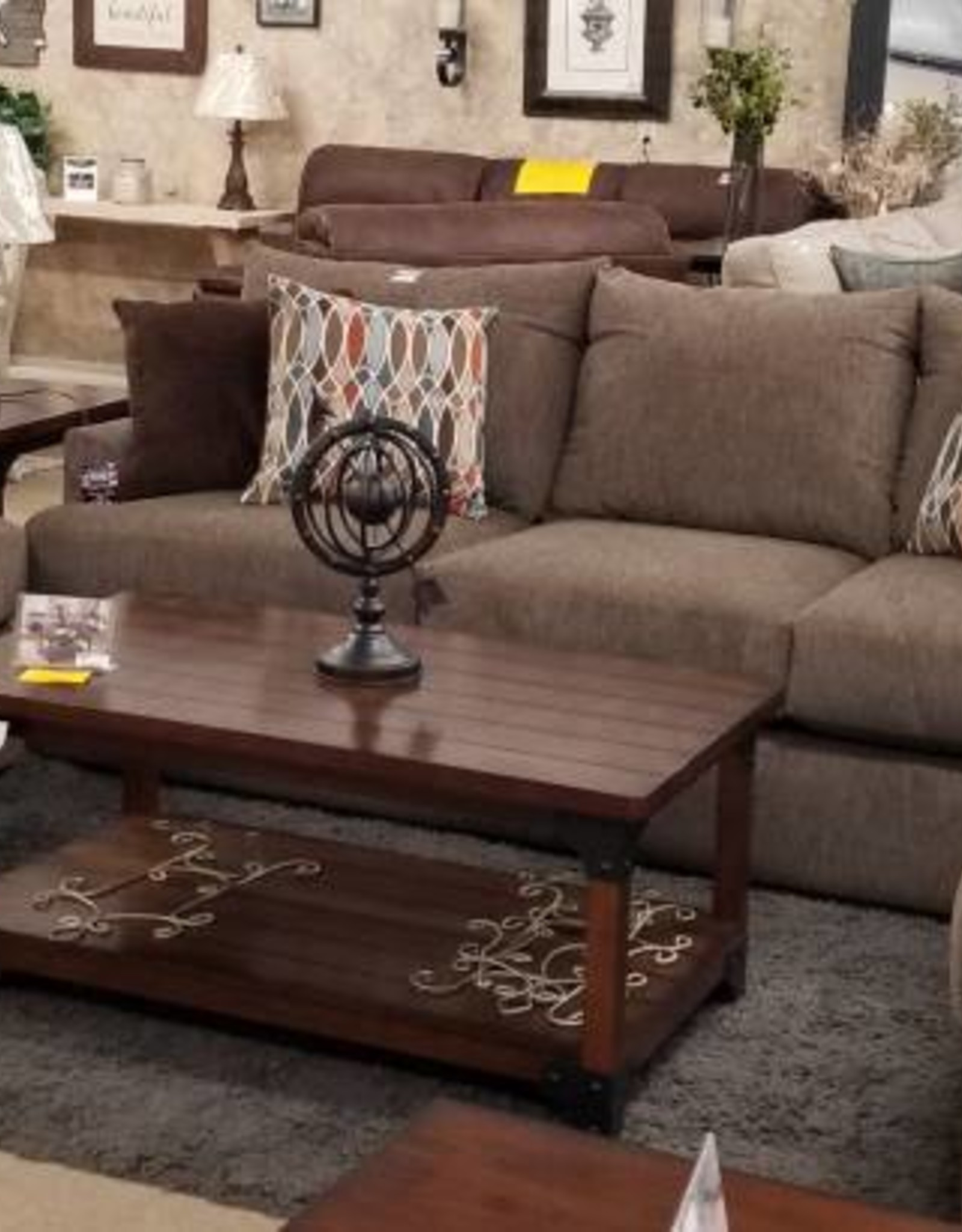 United Grandstand Walnut Sofa, Loveseat and Chair