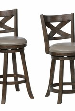 Crownmark Kipper Swivel Bar Stool - Gray