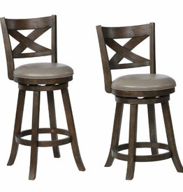 Crownmark Kipper Swivel Bar Stool - Gray