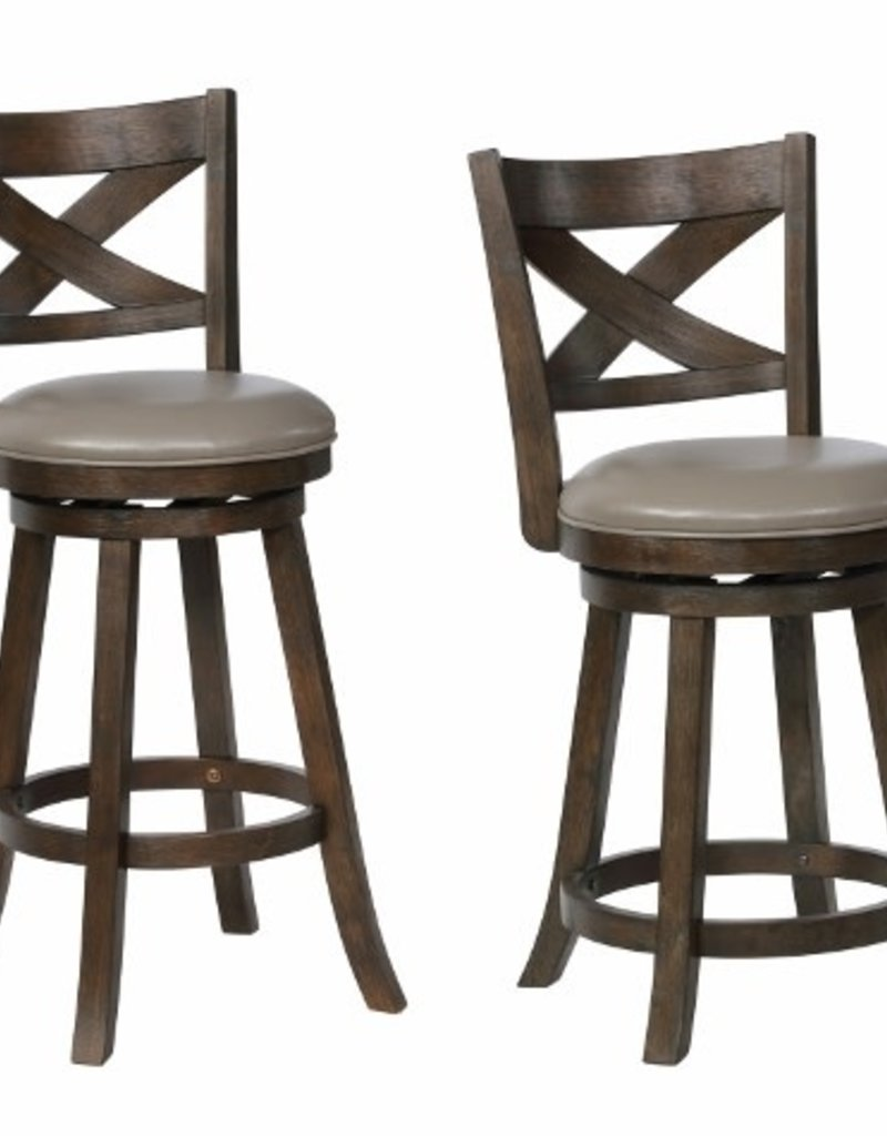 Marvelous Crownmark Kipper Swivel Bar Stool Gray Ibusinesslaw Wood Chair Design Ideas Ibusinesslaworg