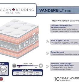 Corsicana Vanderbuilt EXTRA Firm Double-Sided Mattress Set w/ Steel Foundation