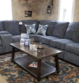 United Handwoven Smoke 4 Pc Sectional w/ 2 loveseats, 1 single and wedge