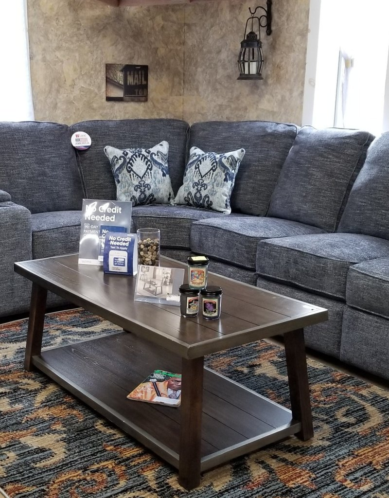 Handwoven Smoke Sectional w/ 2 loveseats, 1 single and wedge ...