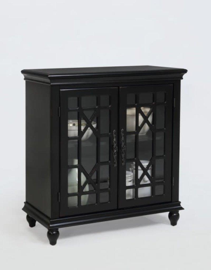 Crownmark Francesca Cabinet-Black