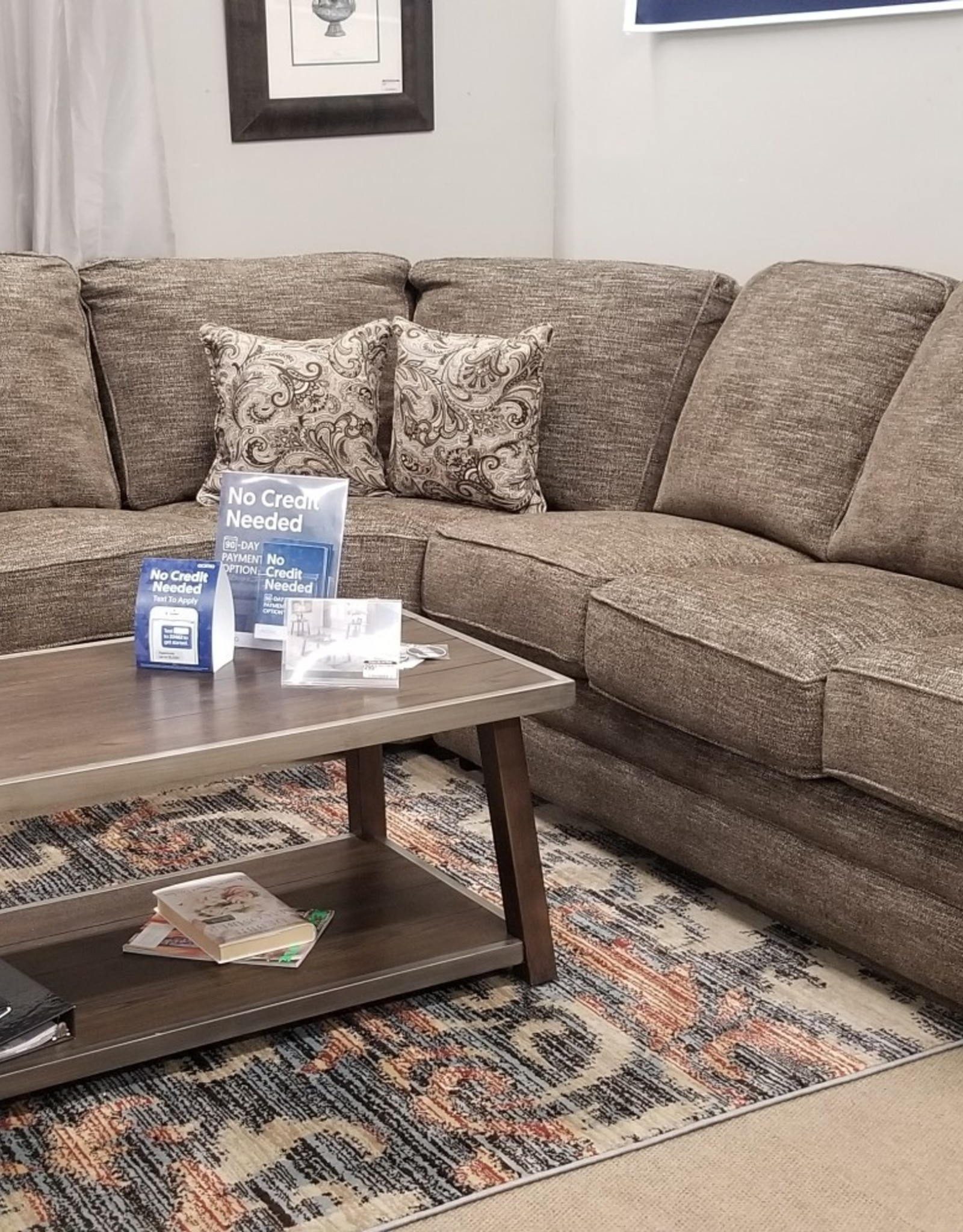 United TigerEye Handwoven Reclining Sectional (Left love w/ console, wedge, right sleeper)