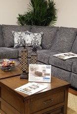 United Handwoven Smoke Sectional w/ 2 loveseats, 1 single and wedge