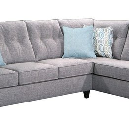 United Surge Smoke Sectional w/ Chaise