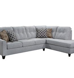 United Dante Tweed Sectional w/ Chaise