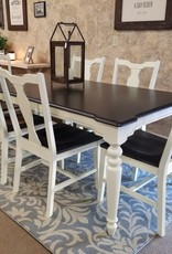 Whitewood Grovepark Table w/ 6 chairs Splatback Chairs - Black Pearl
