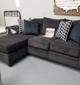 United Albany Slate Chofa Sofa w/ Chaise Bubbles Ink