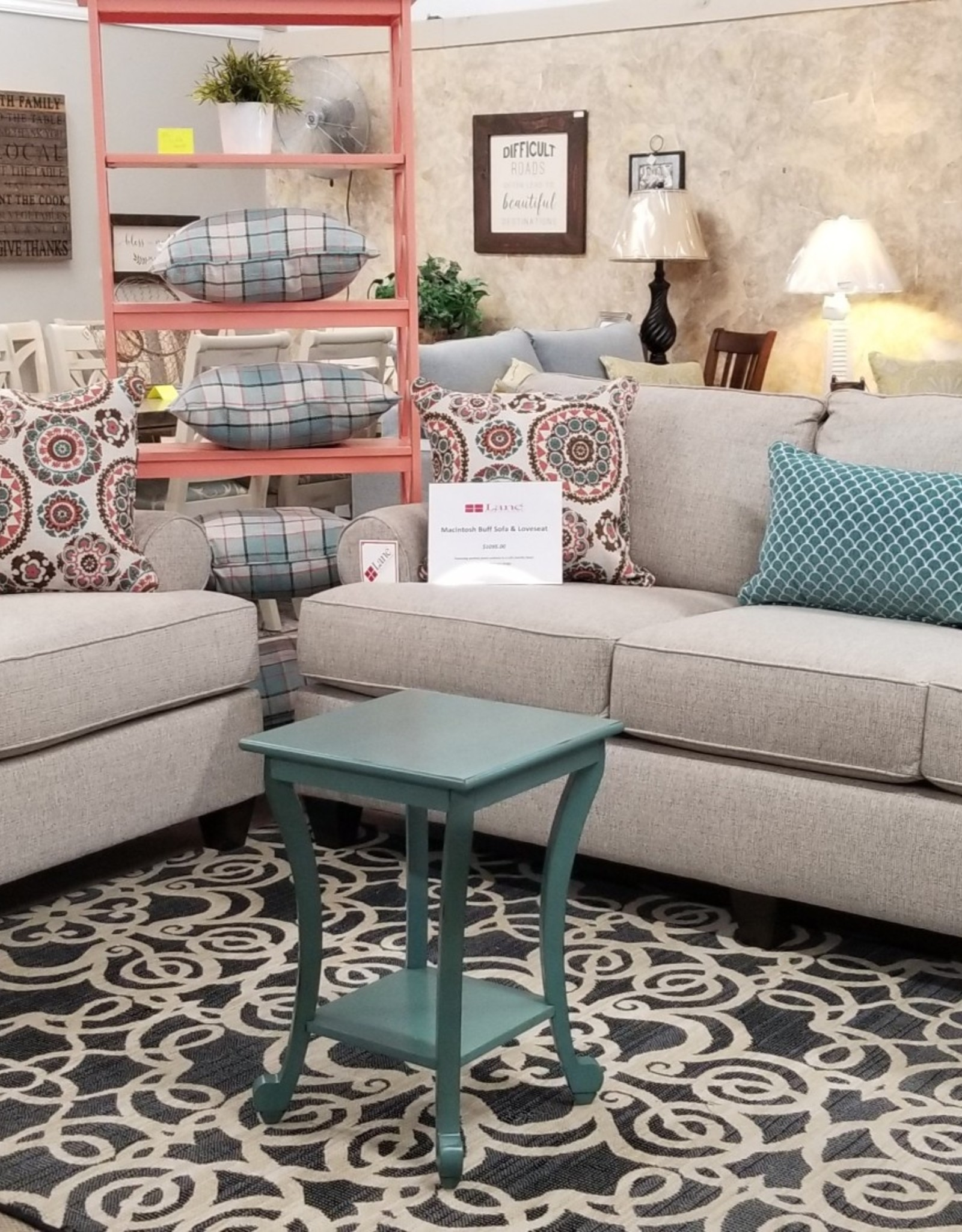 United Macintosh Buff Sofa and Loveseat Set