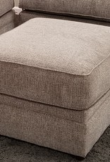 United Macey Pewter Ottoman
