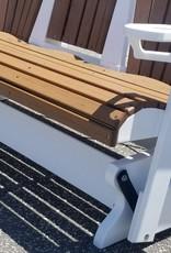Home Decor 5' Fan Back Adirondack Triple-Glider w/ flip down console