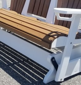 Home Decor 5' Fan Back Adirondack Triple-Glider w/ flip down console