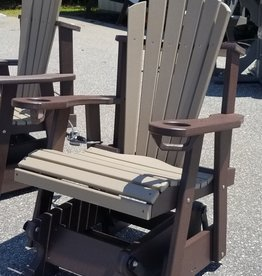 Home Decor Adirondack Glider Rocker Fan Back W/ Built-In Cupholders