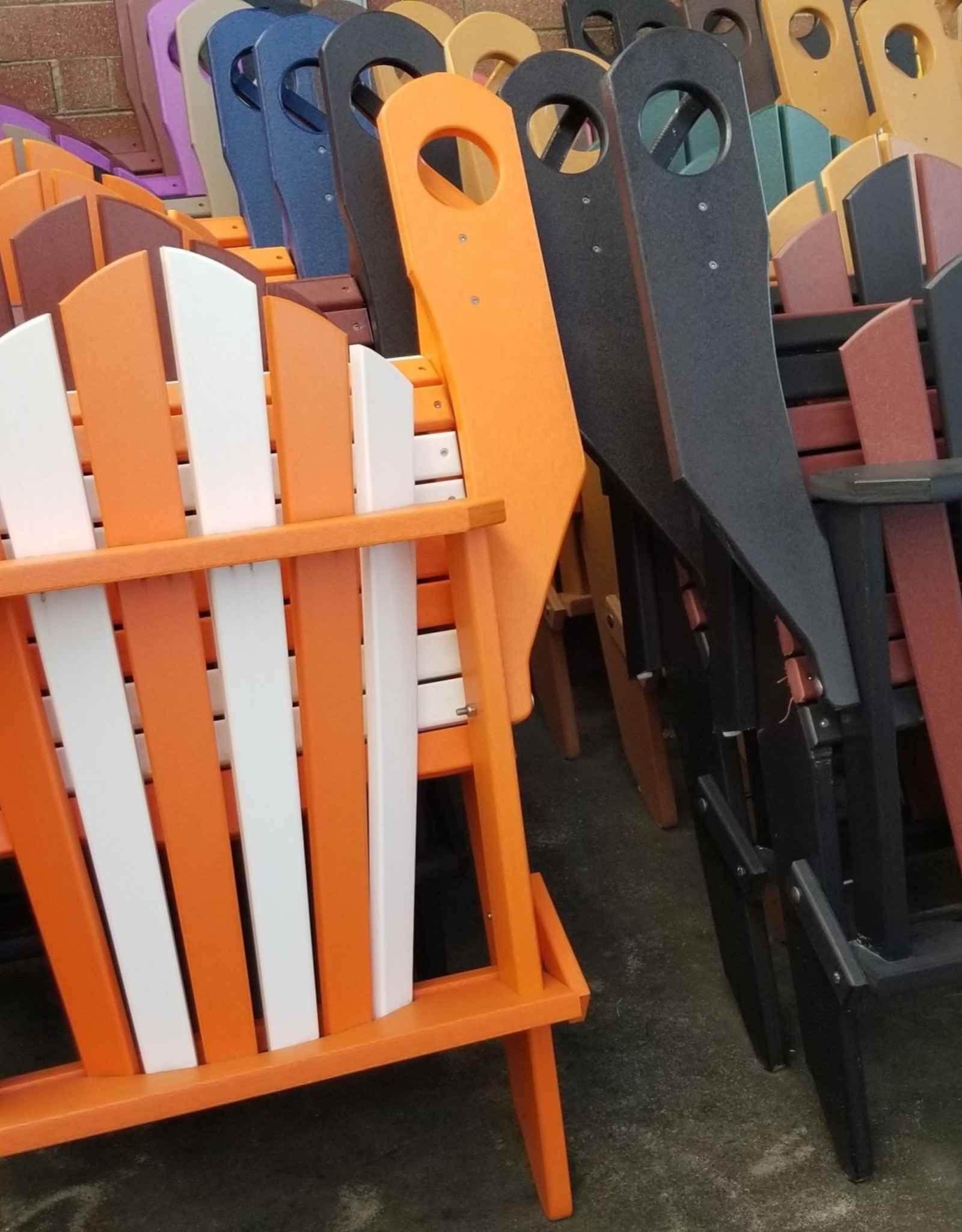 Home Decor Folding Adirondack chair w/ Built-in Cupholders- 19 colors available!