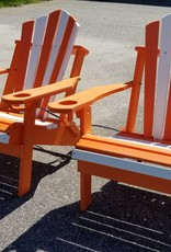 Home Decor Pair of Folding Adirondack chair w/ Built-in Cupholders