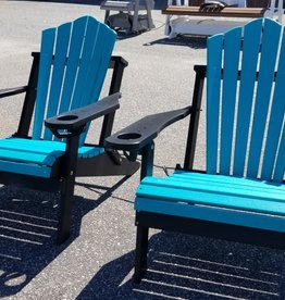 Home Decor Pair of Folding Adirondack chair w/ Built-in Cupholders  - 19 colors!