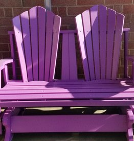 Home Decor 4' Double-Seater Fan Back Adirondack Glider