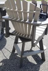 Home Decor Captain's Fan Back Swivel Chair w/ Cupholders