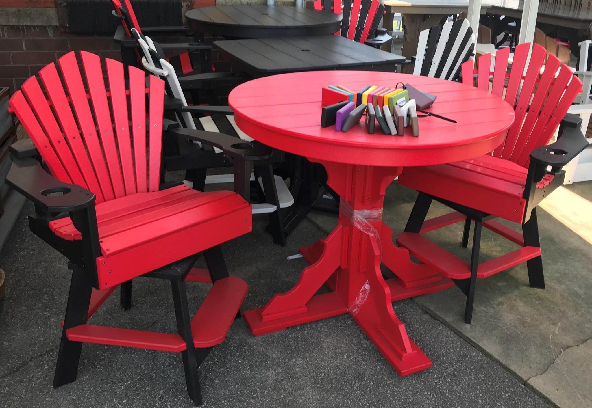 Superb Counter Height 3 Piece Table Set W Swivel Chairs Inzonedesignstudio Interior Chair Design Inzonedesignstudiocom