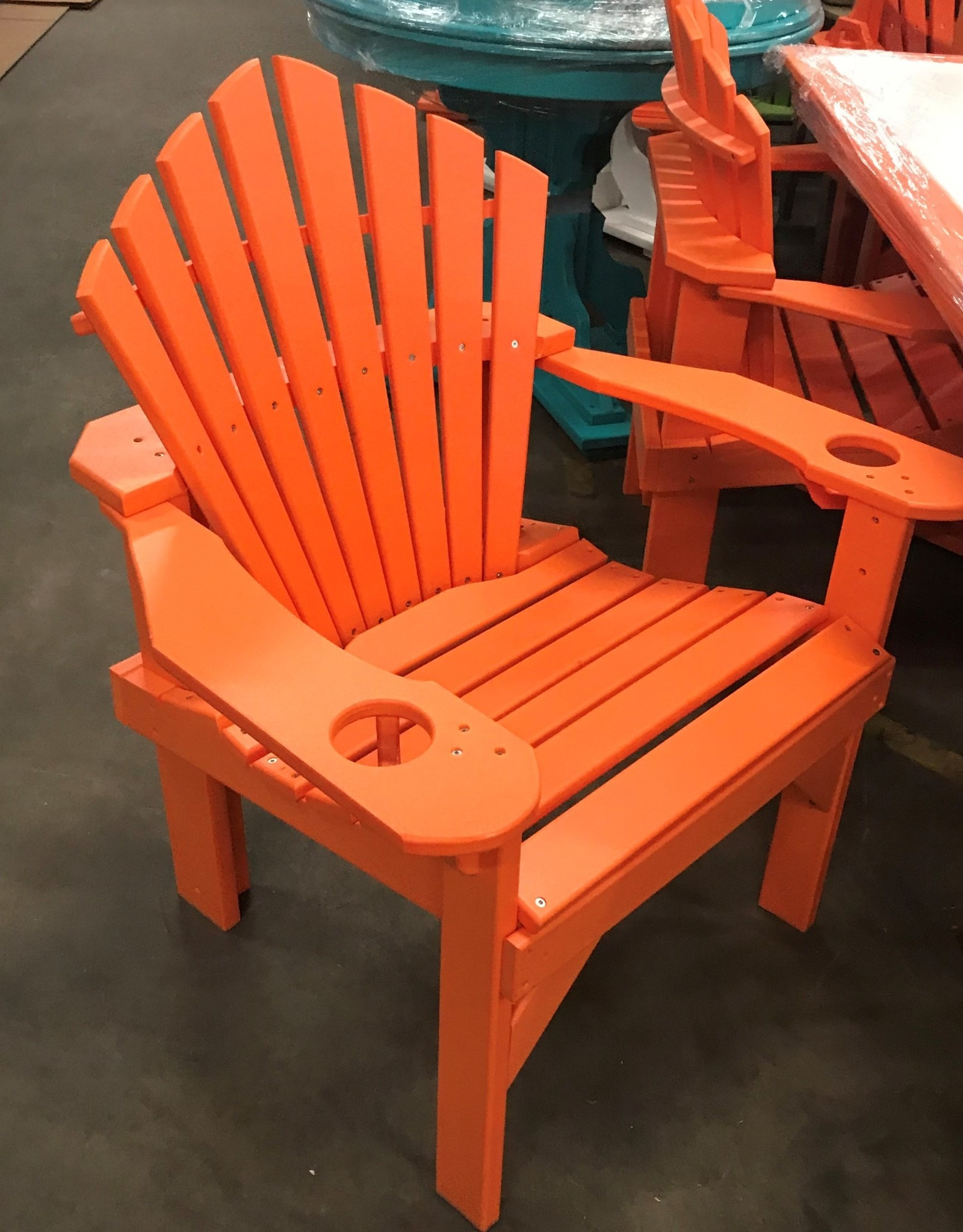 Home Decor Captain's Style Adirondack Stationary Chair w/ Cupholders - Dining Height