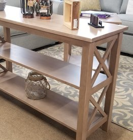 "Whitewood Hampton 48"" Sofa Table w/ Shelves - Taupe Gray"